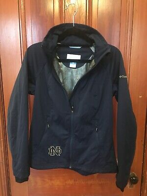 Womens Columbia Omni-Heat Jacket NOTRE DAME Size S Small Navy Blue NWOT