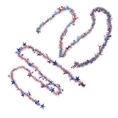 Darice Patriotic Fourth of July Garland 9 feet 2 Assorted Styles w