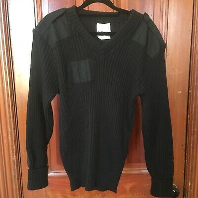 VTG Brigade Quartermasters Woolly Pully Wool Commando Sweater Mens 42 L Tactical