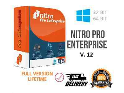 NITRO PRO 12 – LIFETIME - Full Activation- Windows 3264 Bit-for One PC