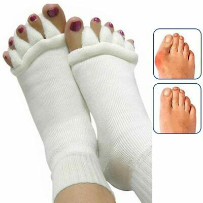 Unisex Soft Socks Bunion Corrector Orthotics Five Toes Separators Pain Relief