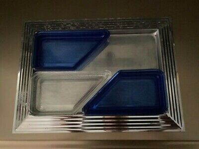 Revere Rome Norman Bel Geddes Manhattan Tray Glass insert REPLACEMENTS