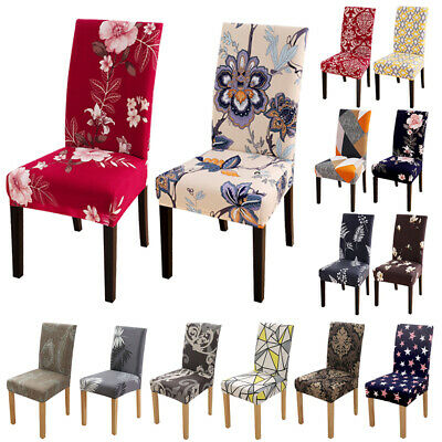 146pcs Spandex Stretch Printed Dining Chair Covers Slipcovers Home Living Room