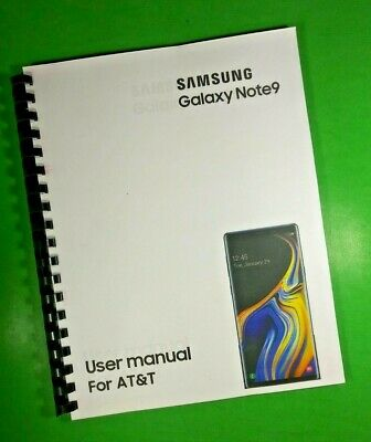 LASER 8-5X11 Samsung Galaxy Note9 For AT-T Phone 189 Page Owners Manual Guide