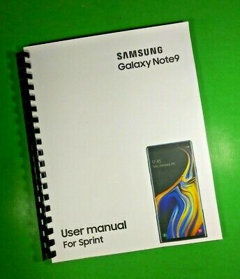 LASER 8-5X11 Samsung Galaxy Note9 For Sprint Phone 183 Page Owners Manual Guide