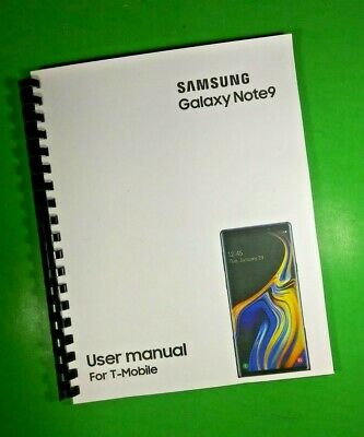 LASER 8-5X11 Samsung Galaxy Note9 For T-Mobile Phone 188 Page Owners Manual