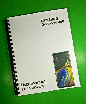 LASER 8-5X11 Samsung Galaxy Note9 For Verizon Phone 192 Page Owners Manual