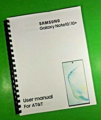 LASER 8-5X11 Samsung Galaxy Note10 10- AT-T 194 Page Owners Manual Guide
