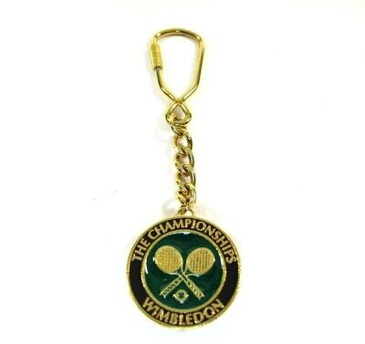 The Championships Wimbledon Official Tennis Gold Keychain Medal w 3D Ball Image