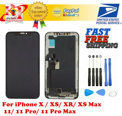 US iPhone X XS XR Max 11 Pro OLED LCD Display Touch Screen Digitizer Replacement