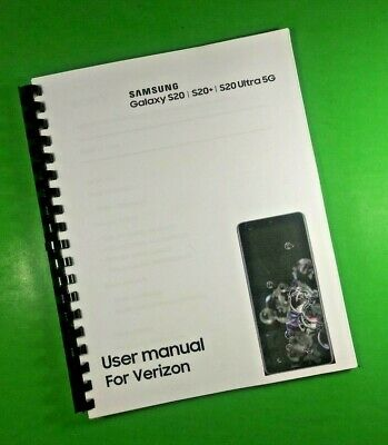 LASER 8-5X11 Samsung Galaxy S20 S20- Ultra 5G Verizon Phone 181 Pg Users Manual