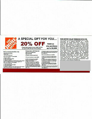 1 20 OFF HOME DEPOT Competitors Coupon to use at Lowes expire 73120
