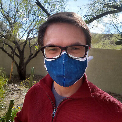 Hand-Sewn Colorful Cotton Cloth  Face Mask Covering  -  For Charity  - 5 Sizes