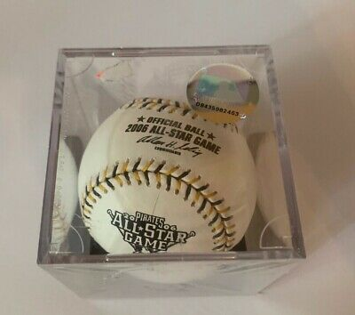 2006 All Star Game Official Baseball Comes with Cube MLB Hologram White Color