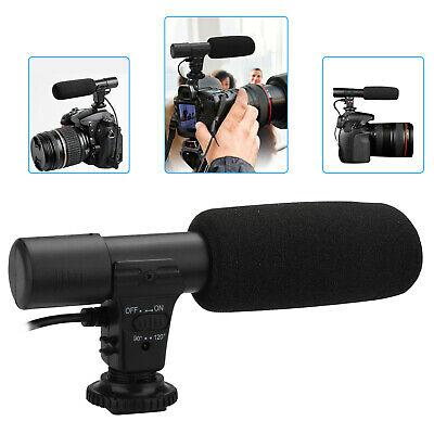 3-5mm External Stereo Microphone For Canon Nikon DSLR Camera DV Camcorder Phone