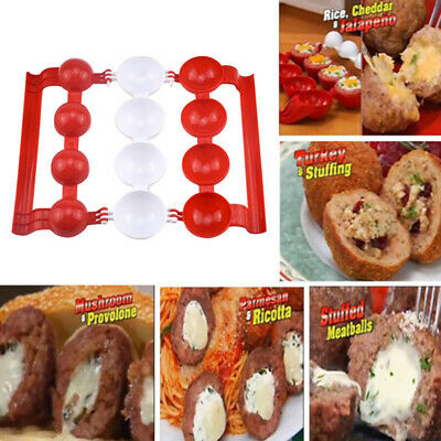 Plastic Meatball Maker Mold Stuffed Shrimp Fish Meat Balls Newbie Scoop Cooking