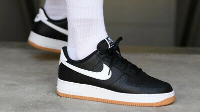 Nike Air Force 1 07 2 Casual Shoes Black White Gum CI0057-002 Mens NEW