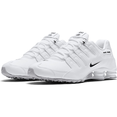 Nike Shox NZ EU Running Shoes White Black 501524-106 Mens NEW