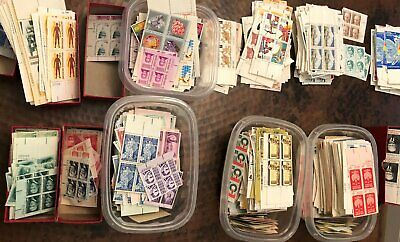 100 face value unused US Postage stamps- Mixed lot blockssheetsbooklets etc