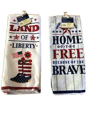4th of July Patriotic  Kitchen Towels - Set of 2