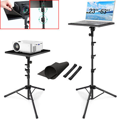 Projector Laptop Tripod Stand W Tray Laptop Camera Adjustable Home Office Stand