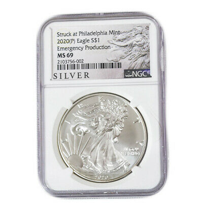 2020 P 1 American Silver Eagle NGC 69 Emergency Production