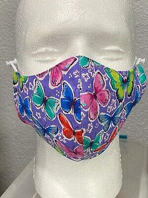 Butterfly Fitted Breathable Three-Layer Olson Face Mask with Pocket for Filter