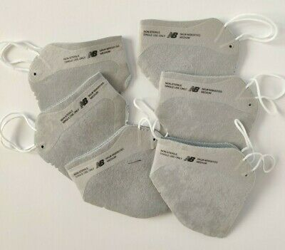 100 Authentic Set Of 6 New balance Grey 4 Layer Face Masks On Around The Ear