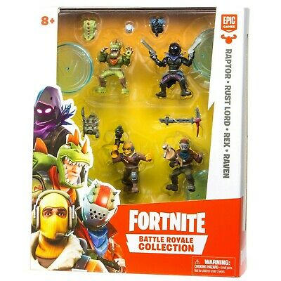 Fortnite Battle Royale Collection Raptor Rust Lord Rex and Raven Mini Figures