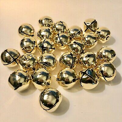 Gold Jingle Bells 1-75 In- Lot of 24
