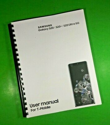 LASER 8-5X11 Samsung Galaxy S20 S20- Ultra 5G T-Mobile Phone 181 Pg Manual