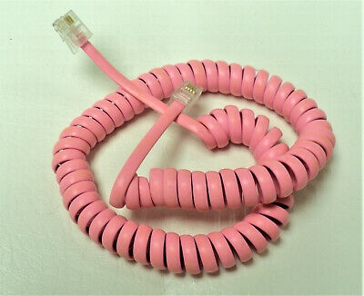 Generic Neon Pink 6 Ft Handset Cord Coil Princess Phone New but Not in Package