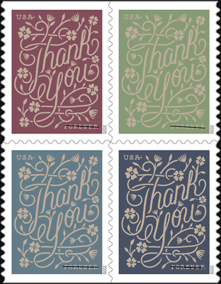5519-22 Thank You Block Of 4 Stamps Mintnh SHIPS FREE Delivery After 821