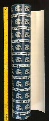 NFL DALLAS  COWBOYS Gift WRAP PAPER Vintage 80s Sold by the yard - 30 wide