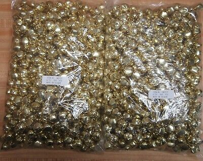 Wholesale Lot of 1000 Gold 20mm Metal Jingle Bells Christmas Crafts Supplies