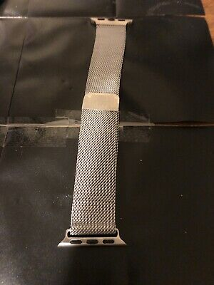BRG Milanese Loop Band Silver Tone For Apple Watch 38-42MM-   Magnetized  LQQK