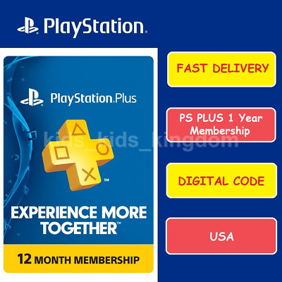 Sony PlayStation PSN PS Plus 12-Month  1 Year Membership Subscription code