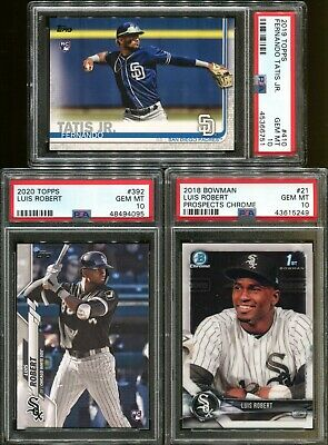Absolute Mystery Pack Patch Auto Fernando Tatis Jr - Luis Robert Rookie PSA 10