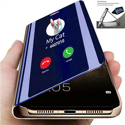 For Huawei P30 Pro Lite Mate 20 P20 Pro Smart View Mirror Flip Stand Phone Case