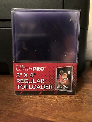 25 Ultra Pro 3X4 Regular Toploaders 1 Pack of 25 for Standard Sized Cards