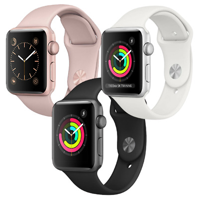 Apple Watch Series 3 38mm GPS Aluminum Space Gray Silver or Gold Smartwatch