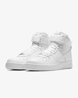 Nike Air Force 1 High 07 Shoes Triple White 315121-115 Mens NEW