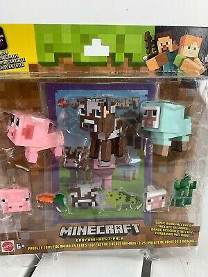 Minecraft Comic Mode Baby Animals 3-Pack Mojang Pig Cow Sheep