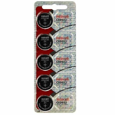Lot of 5 Genuine Maxell CR2032 CR 2032 3V LITHIUM BATTERIES Made in Japan BR2032