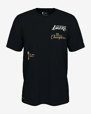 OFFICIAL NIKE NBA 2020 LAKERS CHAMPIONS T-SHIRT SIZE LARGE BRAND NEW