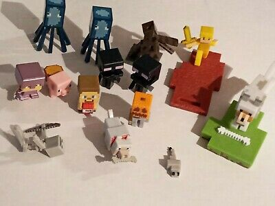 Minecraft Mixed Lot Of Small Figurines 14 pcs