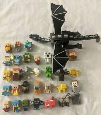 Minecraft Minifigure Lot Figure Characters Monsters Animals with Ender Dragon