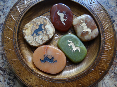 *HORSE* Carved Worry Stone (1) Gemstone Totem Wiccan Pagan Familiar Metaphysical