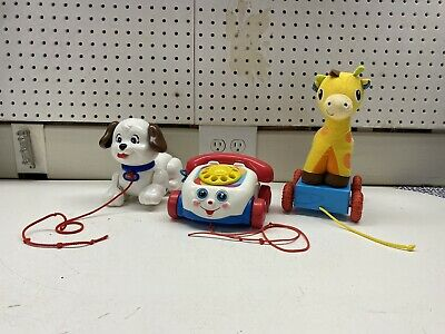 Lot of 3 Pull Toys Fisher Price - Infantino