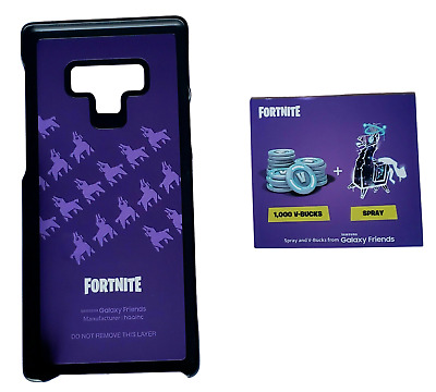 NEW Original Samsung Fortnite SMART COVER for Galaxy Note9 - CODE never used